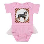 Bernese Mountain Dog Gifts Baby Tutu Bodysuit