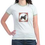 Bernese Mountain Dog Gifts Jr. Ringer T-Shirt
