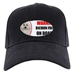 Bichon Frise Black Cap with Patch
