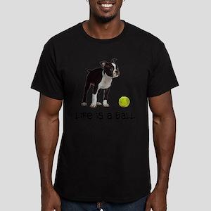 Boston Terrier Life Men's Fitted T-Shirt (dark)