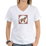 Briard Dog Gifts Women's V-Neck T-Shirt