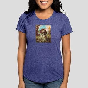 Brittany Spaniel Womens Tri-blend T-Shirt