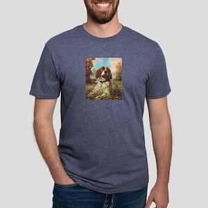 Brittany Spaniel Mens Tri-blend T-Shirt