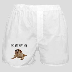 Happy Face Bulldog Boxer Shorts