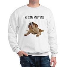 Happy Face Bulldog Sweatshirt