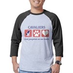 FIN-ckcs-pawprints Mens Baseball Tee