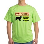 Clumber Spaniel Green T-Shirt