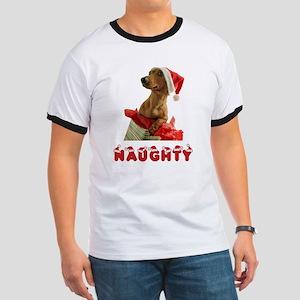 Naughty Dachshund Ringer T