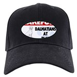 Dalmatian Gifts Black Cap with Patch