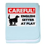 English Setter baby blanket