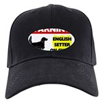 English Setter Black Cap with Patch