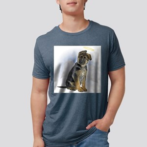 German Shepherd Angel Mens Tri-blend T-Shirt