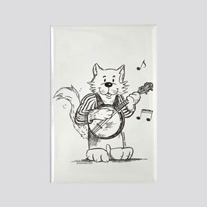 CatoonsT Banjo Cat Rectangle Magnet