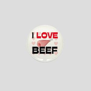 I Love Beef Mini Button