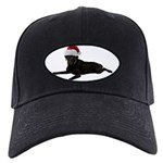 FIN-santa-blacklab Black Cap with Patch