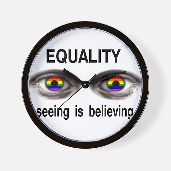 I see gay people Wall Clock