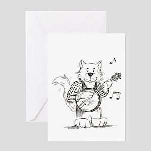 Banjo Cat Greeting Card