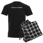 Norfolk Terrier Men's Dark Pajamas