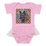 Norwegian Elkhound Baby Tutu Bodysuit