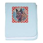 Norwegian Elkhound baby blanket