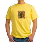 Norwegian Elkhound Yellow T-Shirt