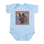 Norwegian Elkhound Baby Light Bodysuit