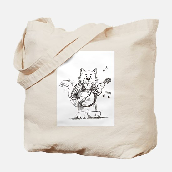 CatoonsT Banjo Cat Tote Bag