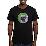 Puggle Men's Fitted T-Shirt (dark)