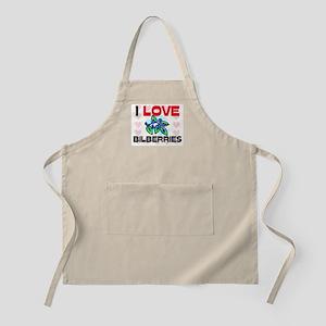 I Love Bilberries BBQ Apron