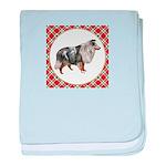 Shetland Sheepdog baby blanket