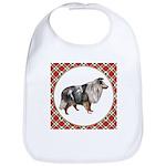 Shetland Sheepdog Cotton Baby Bib