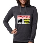 Standard Poodle T-Shirts Womens Hooded Shirt