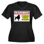 Standard Poodle T-Shirts Women's Plus Size V-N