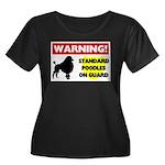 Standard Poodle T-Shirts Women's Plus Size Sco