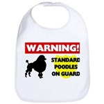 Standard Poodle T-Shirts Cotton Baby Bib