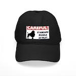 Standard Poodle T-Shirts Black Cap with Patch