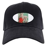 Toy Poodle T-Shirts Black Cap with Patch
