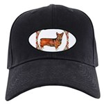 Welsh Corgi Gifts Black Cap with Patch