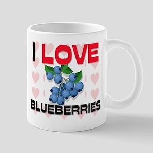 I Love Blueberries Mug