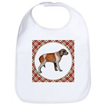 Wirehaired Pointing Griffon Cotton Baby Bib