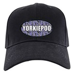 Yorkiepoo Gifts Black Cap with Patch