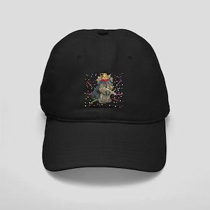 Custom Yorkie Birthday Black Cap with Patch