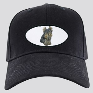 Custom Yorkshire Terrier Black Cap with Patch