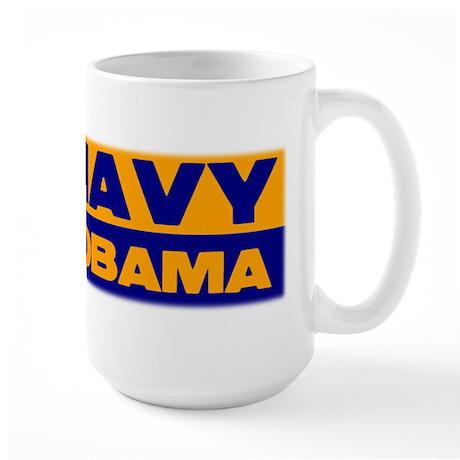 Go Navy Beat Obama Large Mug