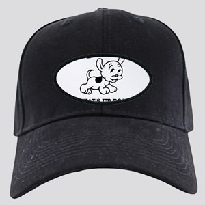 FIN-whats-up-dog Black Cap with Patch