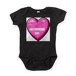 abyssinian-cat-FIN Baby Bodysuit