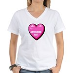 abyssinian-cat-FIN Women's V-Neck T-Shirt