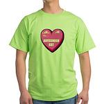 abyssinian-cat-FIN Green T-Shirt
