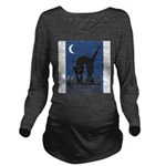 FIN-scaredy-cat Long Sleeve Maternity T-Shirt
