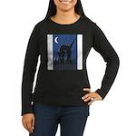 FIN-scaredy-cat Women's Long Sleeve Dark T-Shirt
